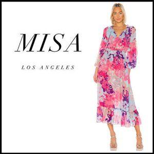 NWT MISA LOS ANGELES Amata Floral Midi Dress XS